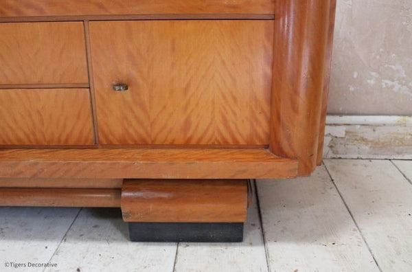 20th Century Sapele Wood Display Cabinet