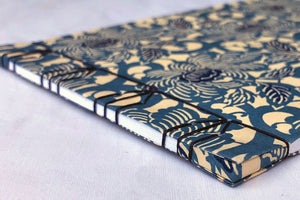 Japanese Stab Stitch book with Chiyogami paper, Tortoiseshell pattern