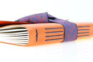 Bespoke Leather Journal Bound with a Silk Ribbon