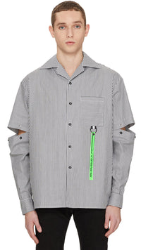 Tech Shirt - Black Pinstripe