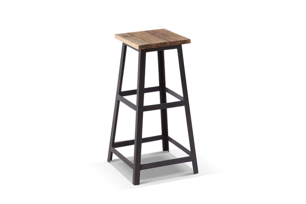 Tabouret de bar industriel carré Rose & Moore
