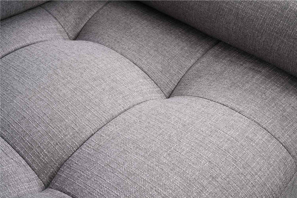 Fauteuil Vardo tissu gris zoom assise
