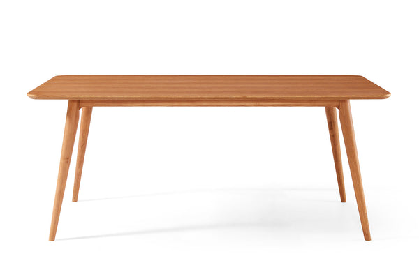 Table de salle à manger design scandinave en bois Bâle Julia de face