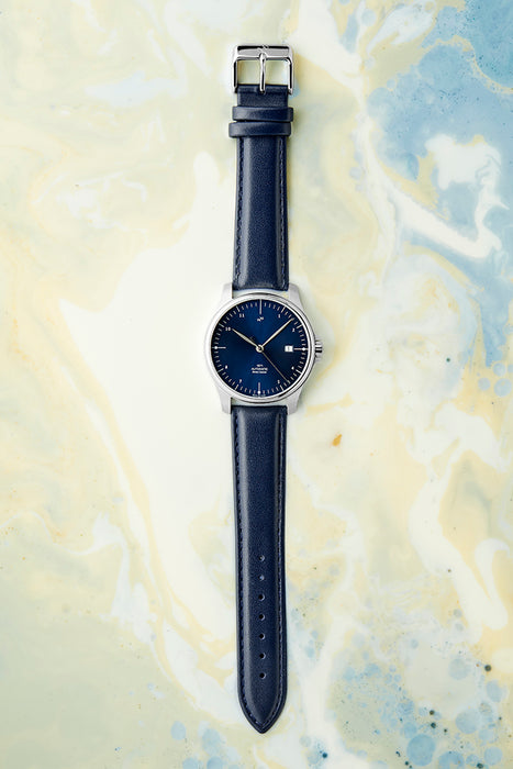 1971 Automatic, Steel / Night Blue Sunray - Swiss Made