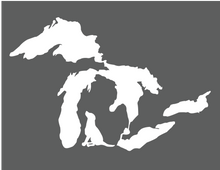 Great Lakes Silhouettes - White Decal - Hobbies