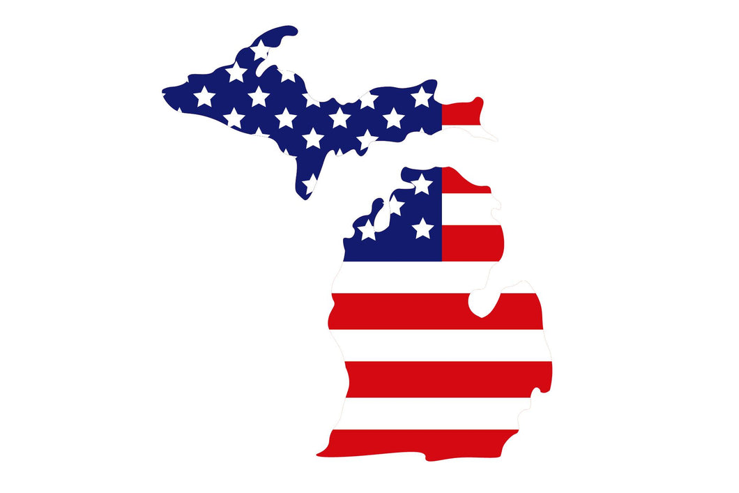 Mitten USA Flag Sticker