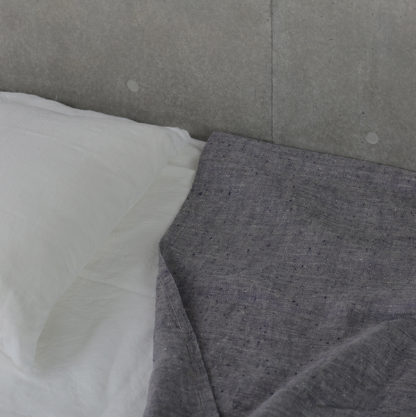 Fog Linen Work linen chambray throw