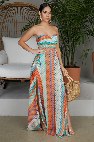 Island Hopper High Slit Maxi Dress