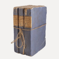 VINTAGE BOOK BOX, PERIWINKLE