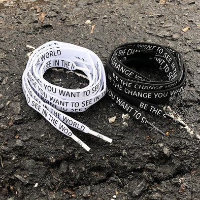Be the Change Shoelaces (2 pack)