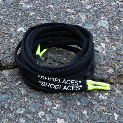 "BLACK VOLT DIPPED ""SHOELACES"""