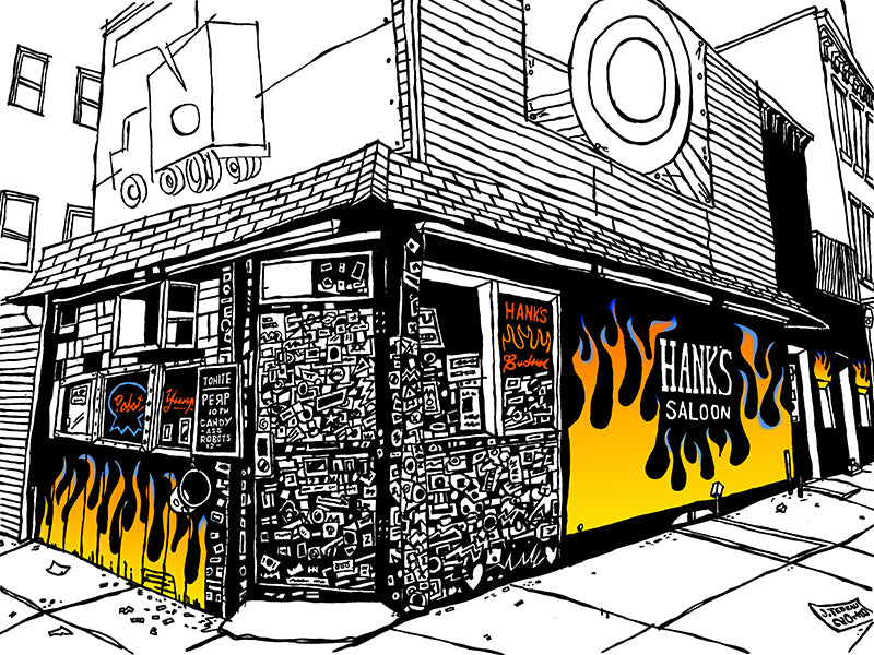 Hank's Saloon of Brooklyn: Signed Art Print of a Great Good Place of New York