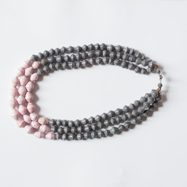 Grey and Pink Necklace