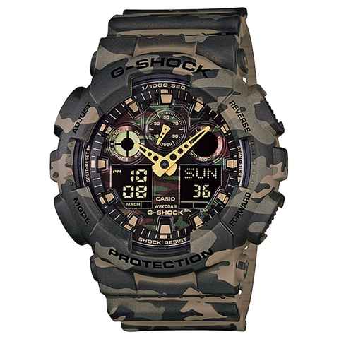 Brown  Green Camo G-SHOCK GA-100CM-5ADR