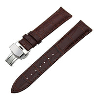 GARMIN - Leather Watch Band Butterfly Buckle Strap for Garmin Vivoactive HR, Fenix 5S/ 5, Epix