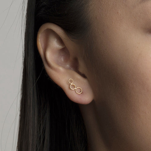 Three Circle Ear Climber