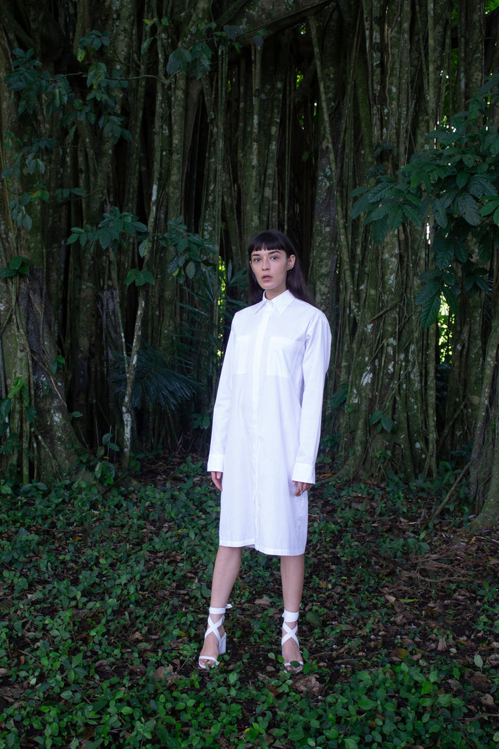 organic cotton shirt dress | mariañes