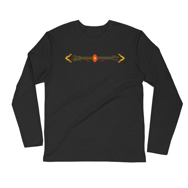 DamWear (Heated Golden) Long Sleeve Fitted Crew