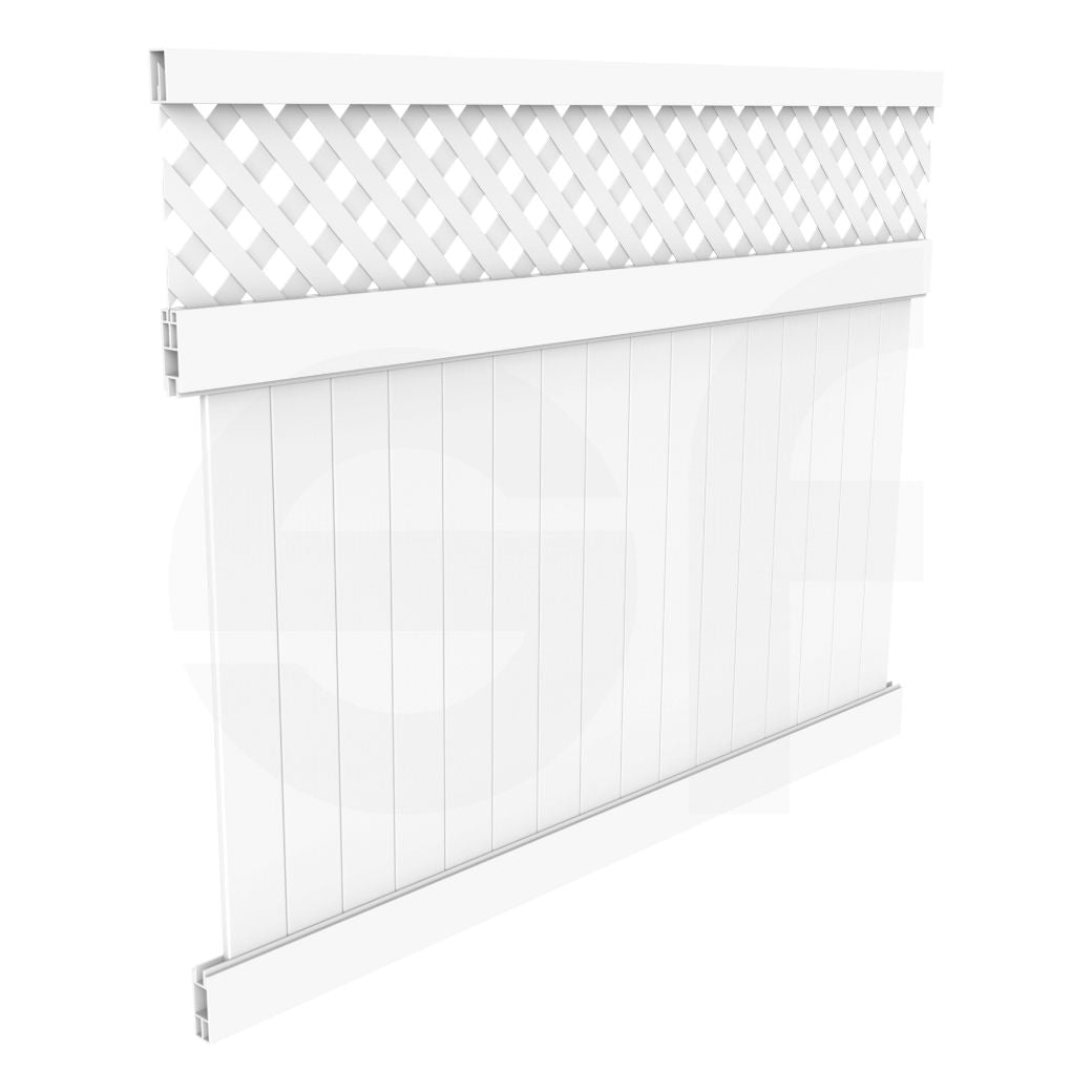 Cascade 8 ft. W x 6 ft. H White Vinyl Privacy Fence Panel ...
