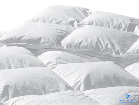 Naples - Midweight Hungarian White Goose Down Comforter 500TC/750 Loft