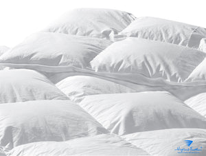 Boras Midweight Combo - 1 Midweight European White GooseDown Comforter + 2 Medium White Goose Down Pillows 233TC/550 Loft