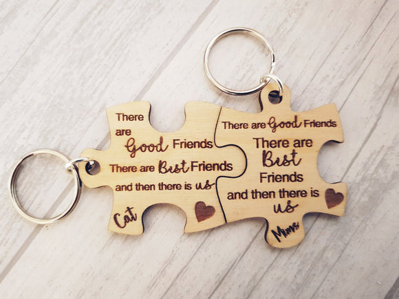 Best Friends Keyrings
