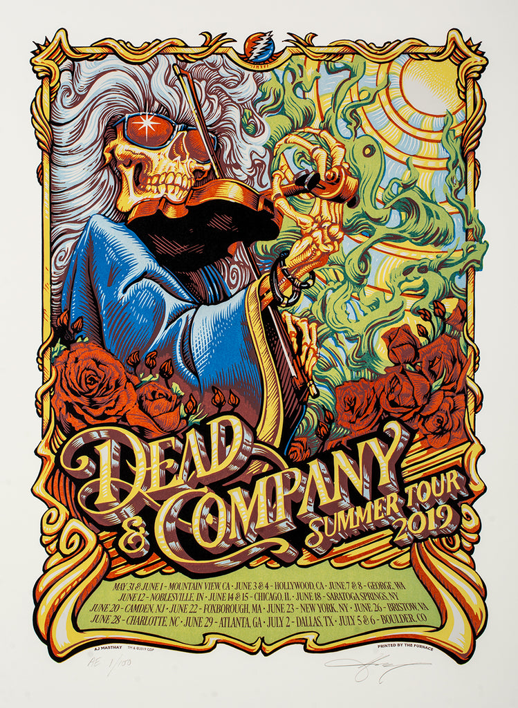 I AM GABZ - ONLINE PRINT & OG SALE / DEAD & COMPANY SUMMER TOUR + MORNING RITUALS by AJ Masthay On Sale INFO!