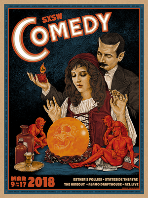 "Timothy Pittides ""SXSW Comedy Poster"""