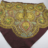 old textile gold  scarf