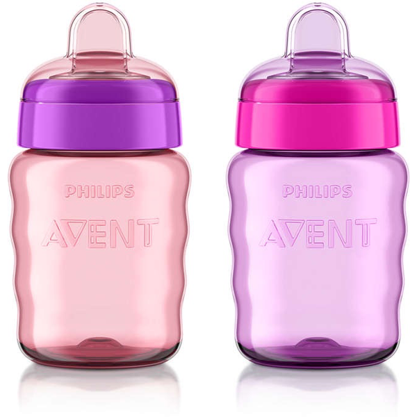 Philips AVENT-My Easy Sippy Classic Spout Cup 9oz-2pk Girl