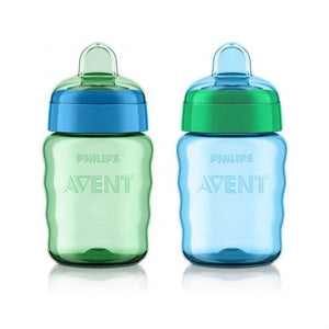 Philips AVENT-My Easy Sippy Classic Spout Cup 9oz-2pk Boy