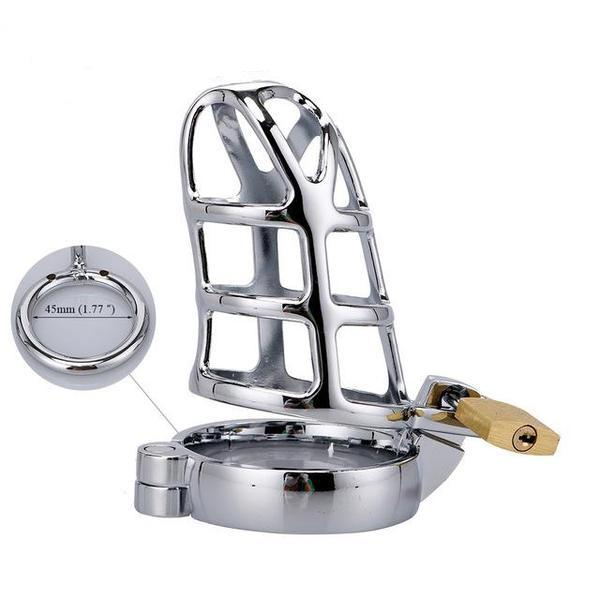 Steel Cock Cage Chastity (40/45/50mm) - sex toys SexWeLove 45mm Online Adult Shop & Sexy Lingerie Sexwelove
