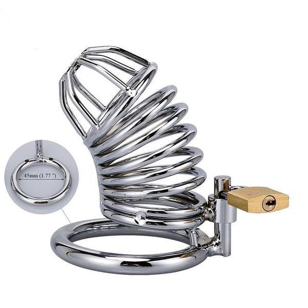 Steel Cock Cage Chastity (40/45/50mm) - sex toys SexWeLove ™ 45mm 2 Online Adult Shop & Sexy Lingerie Sexwelove
