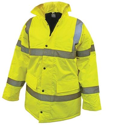 Jacket Hi-Vis Anorak Yellow Large - JHVAYLPE