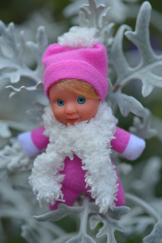 Cute Baby Matchbox Doll for Girls – Madolina – The Italian Collection - Stork Babies - beautiful handcrafted dolls