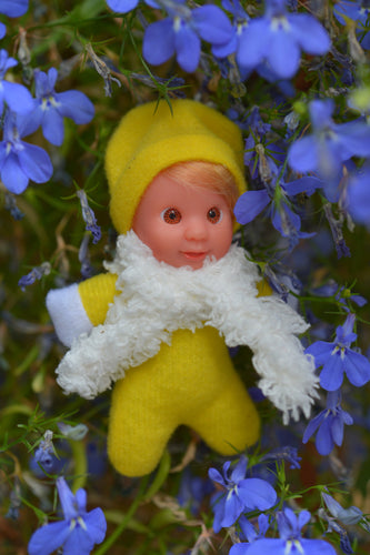 Cute Baby Matchbox Doll for Girls – Penina – The Italian Collection - Stork Babies - beautiful handcrafted dolls