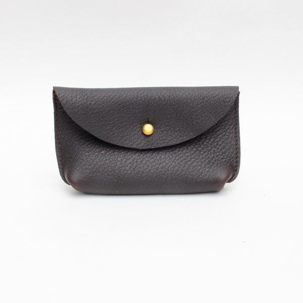 Hebden coin pouch, dark brown, Miller and Jeeves