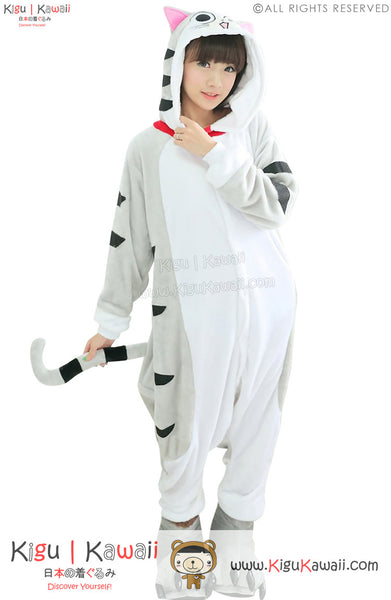 New Kawaii Cartoon Cat Adult Animal Winter Kigurumi Fleece Onesie KK862