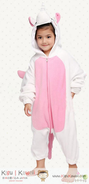 Unicorn Pink Animal Kids Kigurumi Onesie