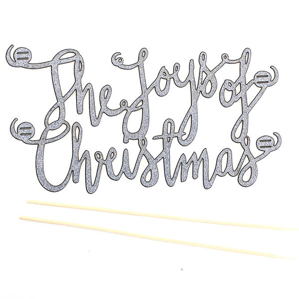 Glitter Topper : The Joys of Christmas : Slate