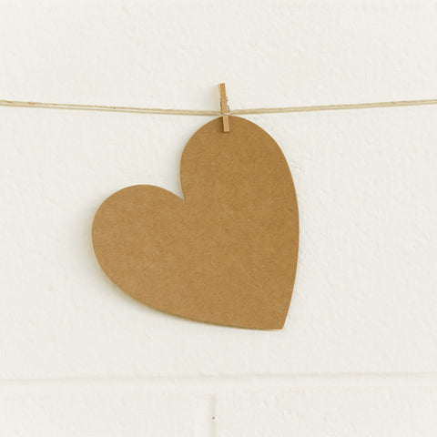 Paper Hearts, Kraft Large, 20pk