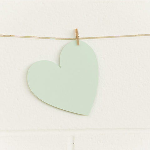 Paper Hearts, Mint Large, 20pk