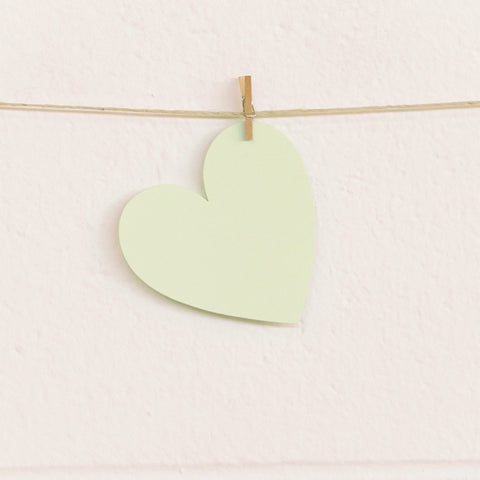 Paper Hearts, Pale Green Medium, 100pk