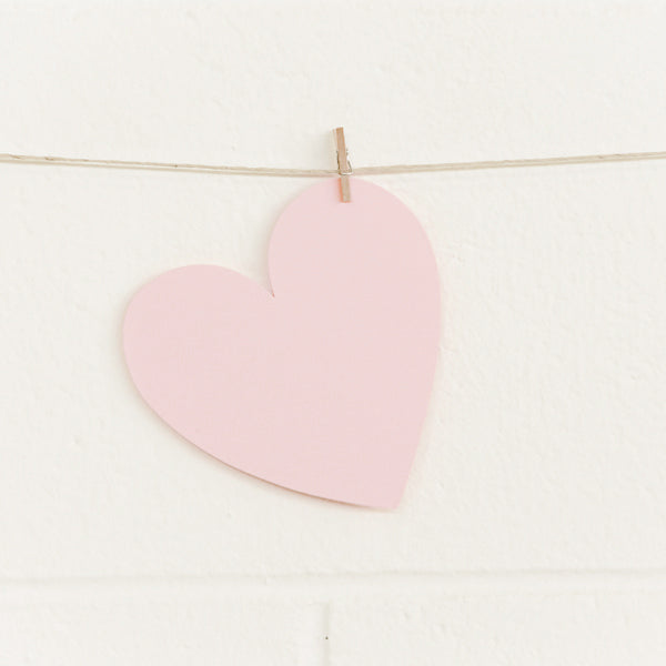 Paper Hearts, Pale Pink Large, 100pk