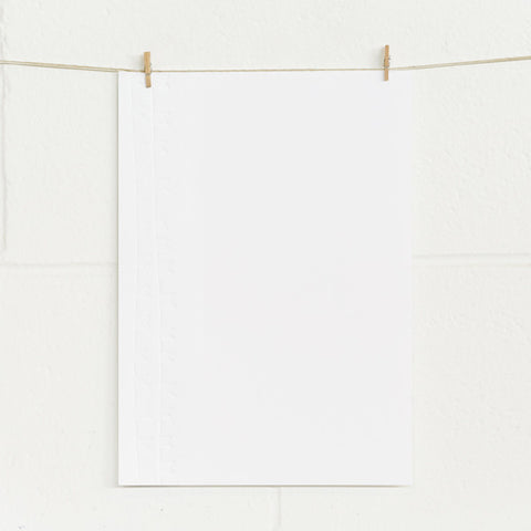 'Bunting' Embossed on White, PRINTme Paper, 50pk