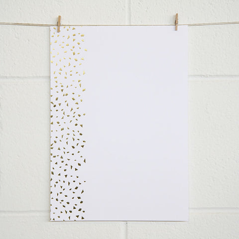 'Confetti' Gold Foil on White, PRINTme Paper, 10pk