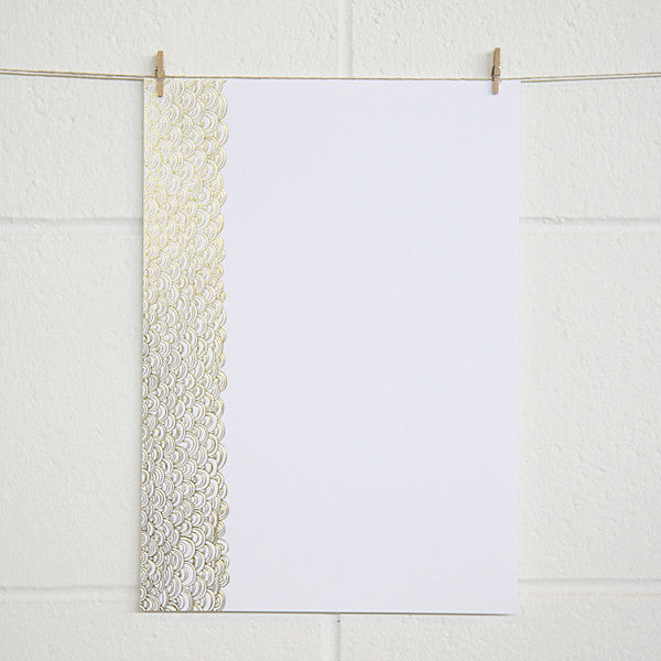 'Dreamy' Gold Foil on White, PRINTme Paper, 50pk