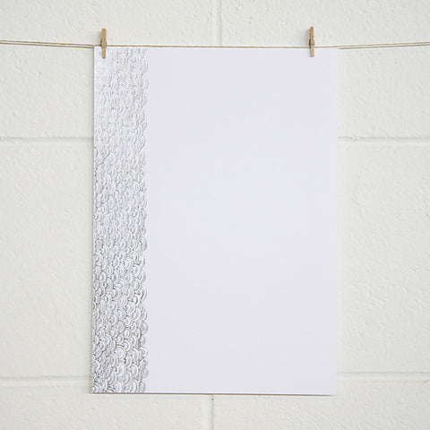 'Dreamy' Silver Foil on White, PRINTme Paper, 50pk