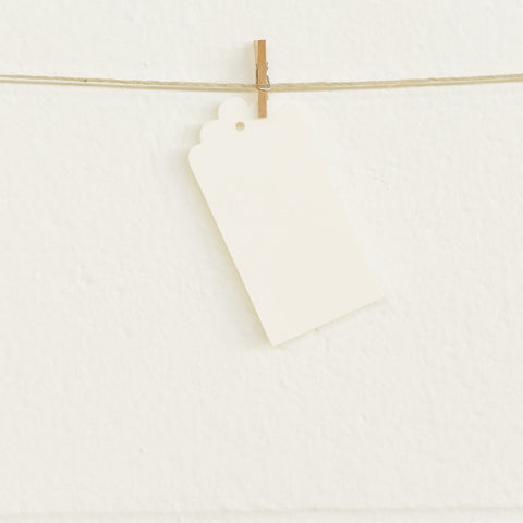 Deco Tags, Cream, 20pk
