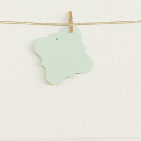 Flourish Tags, Mint, 20pk